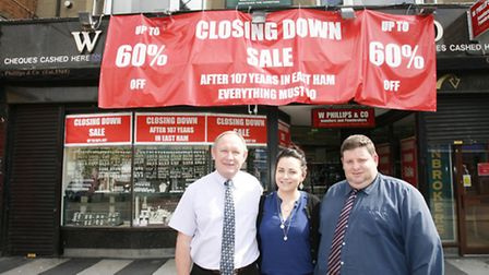 Left to right, Manager William Stallwood, Charlotte Ryan and Elliot Stanton at W Phillips and Co. I