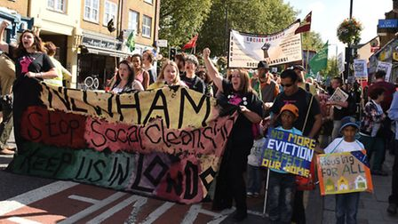 Focus E15 demo through Stratford against evictions from council properties