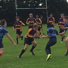 Action from Coopers Coborn's match against Colchester Grammar