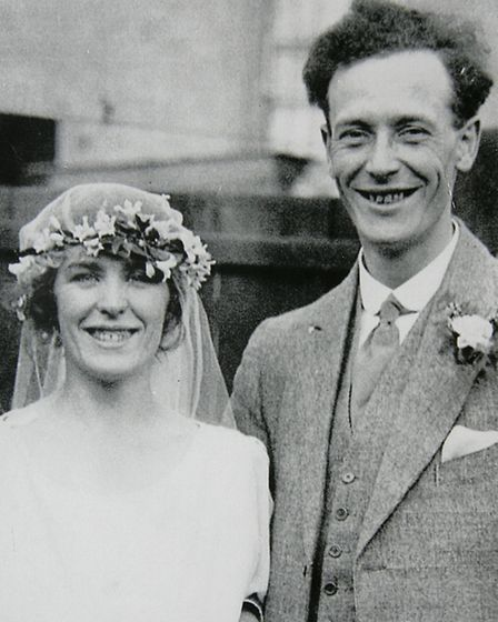 John Coombes' father George marrying his wife Winifred on September 10 1921