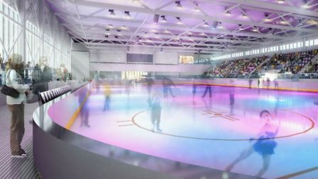 Artist's impression of Romford leisure centre ice rink