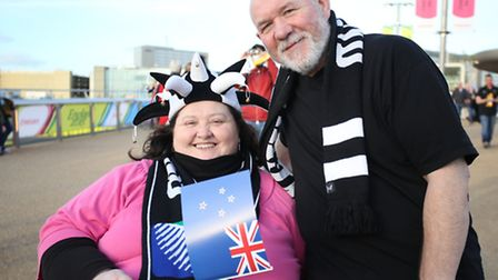 Nina Sutton and Ray Sutton are among the New Zealand fans to travel halfway across the world