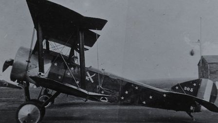 Sopwith Pup aircraft 189 from night flying squadron at Sutton's Farm