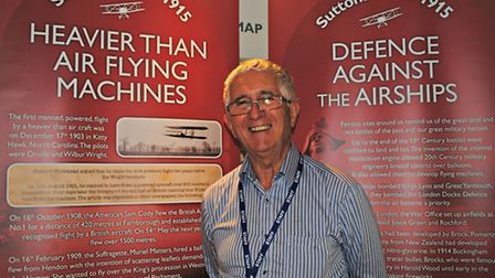 Havering Museum volunteer Dennis Lynch, who has created an exhibition on Sutton's Farm aerodrome in