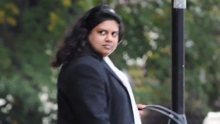 Honey Rose leaving South East Suffolk Magistrates Court in Ipswich