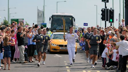 The Olympic Torch Relay winds it's way through Lowestoft. Kieren Emery
