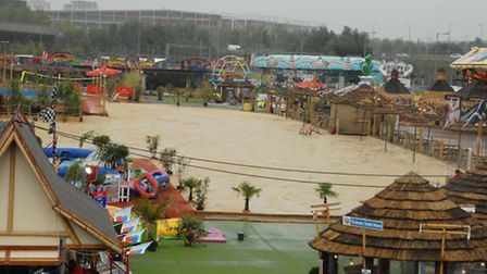 The Beach East at Stratford closed on Bank Holiday Monday due to bad weather