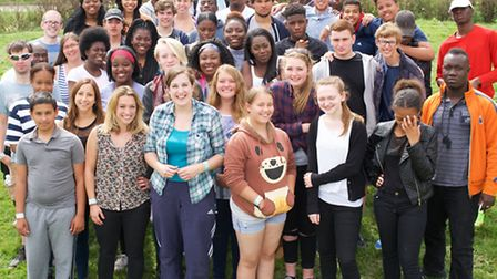 Faith group NYC took 38 young boroug Christians to the festival at Somerset (Pic by Jimmy Dale)
