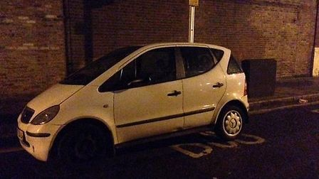 The car seized during the arrest Photo: @MPSNewham