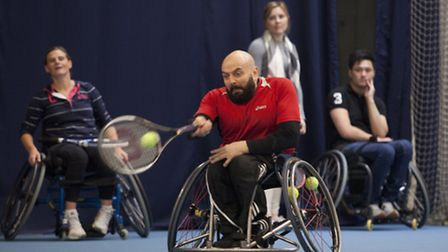 Wheelchair tennis at the Lee Valley Hockey and Tennis Centre
