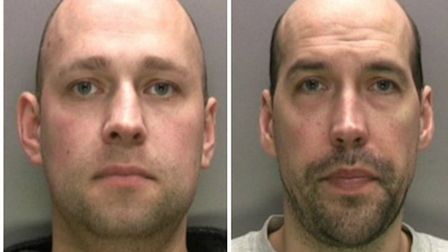 David Cooper, 39, left, and his brother Roger Cooper, 41, right, were convicted at Birmingham Crown