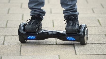 A man rides an electric balance scooter in central London. Picture: Anthony Devlin/PA Archive/PA Ima