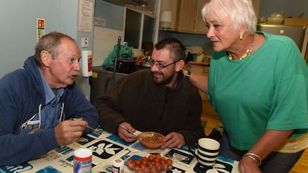 Volunteers and clients at the Hope4Havering Christian night shelter in Hornchurch