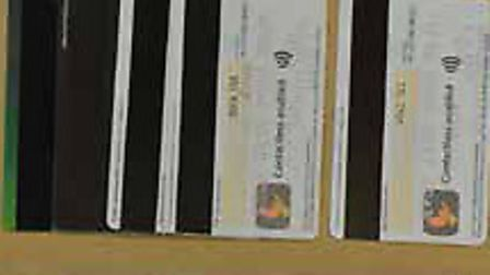 Debit cards seized by police