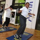 Pupils bouncing around at Stratford School Academy open day, where parents heard about plans to expa