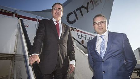Patrick Lukan, Cityjet's vice-president of sales and distribution with London City Airport's chief o