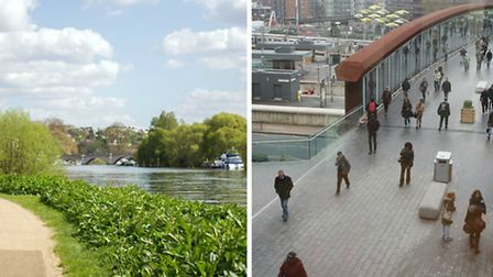 People in Richmond Upon Thames, left, can expect to live healthily for more than ten years longer th