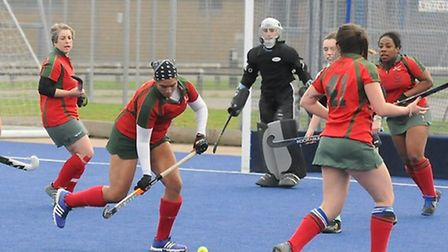 Action from Redbridge & Ilford women's first team against Canterbury (pic: Graham Hodges).