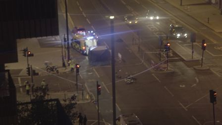 A man has died following a crash in Stratford (Picture: William Ward)