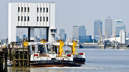 The woolwich ferry service runs between Newham and Greenwich. Picture: Ian West/PA Images