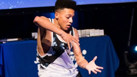 Ashley Rowe performs at the Jack Petchey Awards