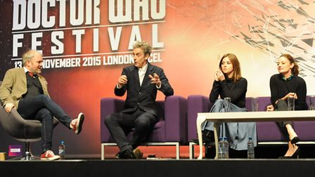 Doctor Who stars take part in a panel event