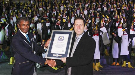 Richard House supporters set a new Guinness World Record