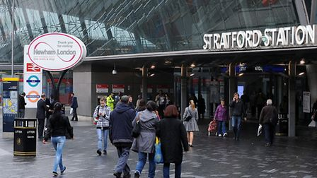 Stratford station. Picture: Nick Ansell/PA Images