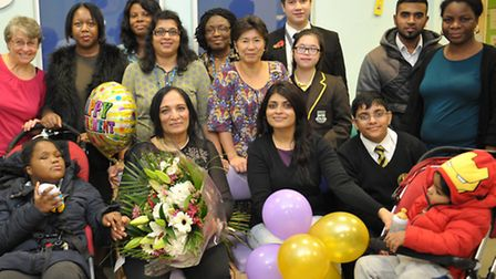 Doctor Sudha Parashar with friends and colleagues