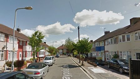 A fire destroyed a roof in the early hours of Saturday on Maypole Crescent, Hainault. Picture: Googl