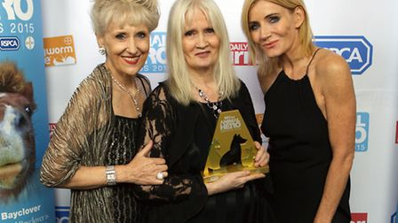 Anita Dobson, Celia Hammond and Michelle Collins at the Animal Hero Awards in London (Picture::Phili