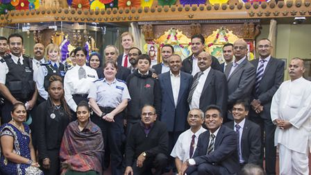 Stephen Timms MP joins Hindus to celebrate Diwali Picture: SKS Swaminarayan Temple