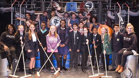 Elaine Grant (far left) and Ellie Shaw (far right) from Mousetrap Theatre Projects with East London