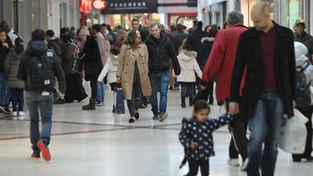 Shoppers at the Mall in Stratford