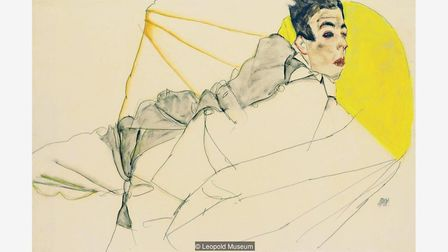 Schiele's interest in painting youths raised eyebrows and attracted the attention of the law. Pictur