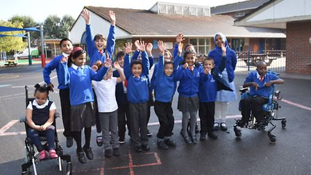 Pupils at Cleves Primary School, in Arragon Road, which was rated Outstanding