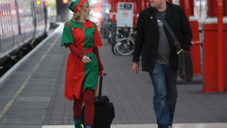 Festive cheer can come even in train stations. Picture: PA/Stefan Rousseau