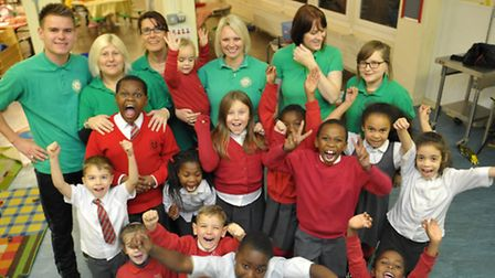 After school club celebrate their ofsted success