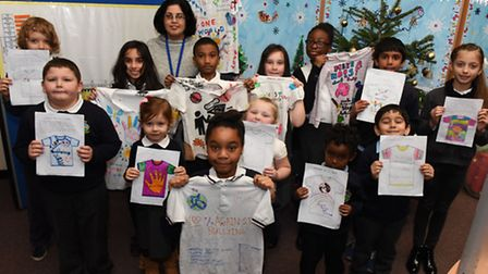 Pupils at Manford Primary School in Chigwell have been designing anti-bullying t-shirts