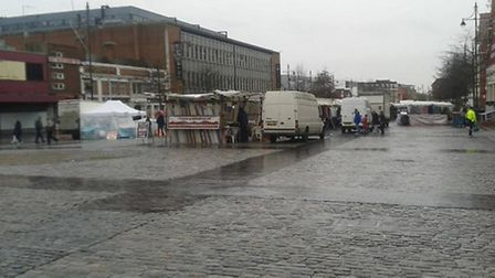 The sorry state of Romford Market at 11.30am on Saturday