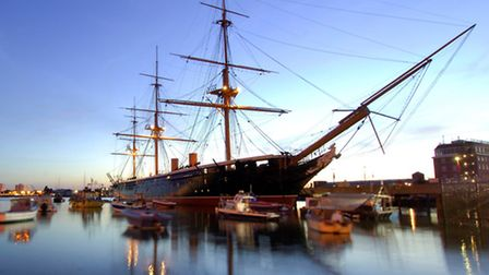 HMS Warrior, image courtesy of The National Museum of the Royal Navy