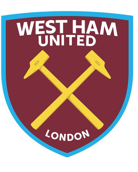 A new crest was unveiled by West Ham United in 2014 that acknowledged its history with Thames Ironwo