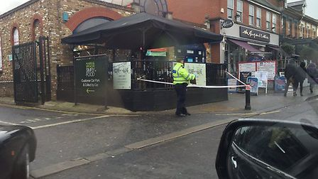 Police had cordoned off parts of George Lane after the assault. Picture: Rehan Haque