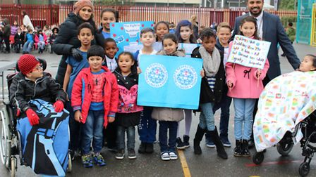 Colegrave Primary School staff and pupils celebrate children's rights