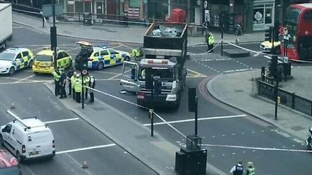 Cyclist Victor Rodriguez was killed after being hit by a lorry in Ludgate Circus on April 3 2014 (Pi