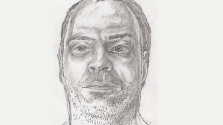 An artist's sketch of Kevin Holehan, who has finally been identified after drowning in Stratford six