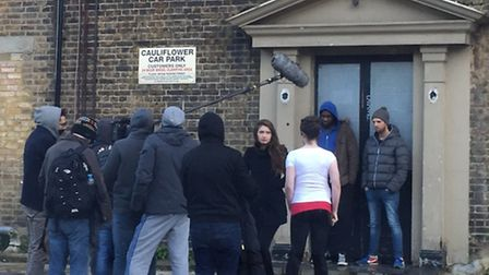 The filming of the Immigrant at the Cauliflower pub, High Road, Ilford. Picture: Naveen Medaram