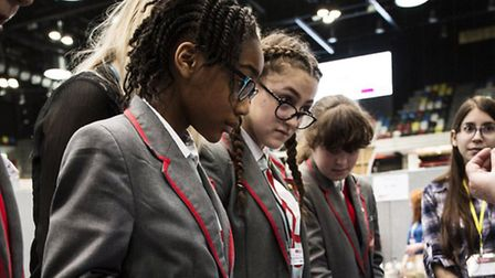 Students tackled a number of experiments put on by big businesses ranging from Bloomberg to Barclays