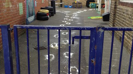 Pupils at Squirrels Heath Infant School received a mysterious visitor at their school