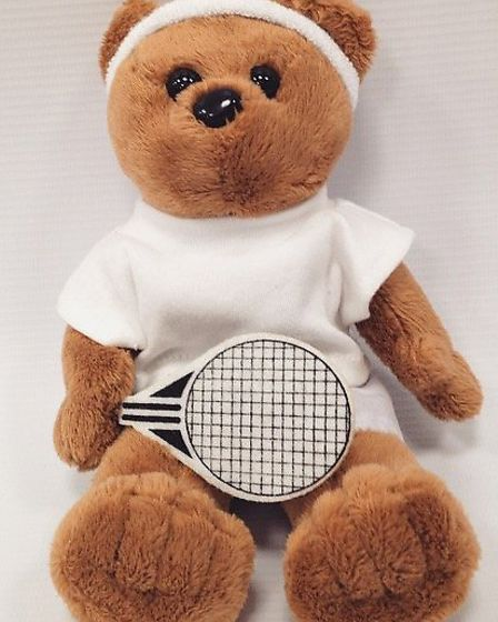 Anyone for tennis? You could have a lot of fun and games with this teddy